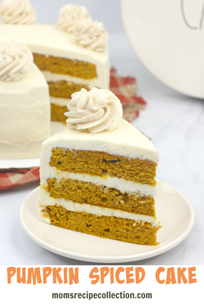 Mom's Recipe Collection | Tasty pumpkin spice layer cake is the perfect fall treat.