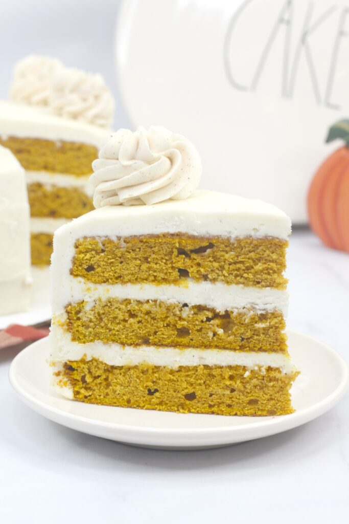 Pumpkin spice is for more than just your coffee- this cake is delicious!