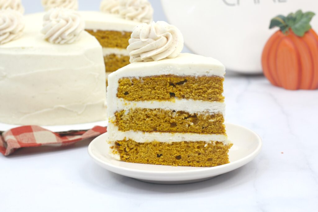 This tasty spiced pumpkin cake is great year-round.
